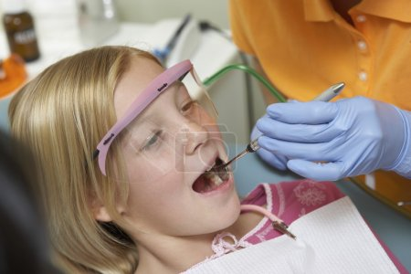 Girl Getting Dental Checkup