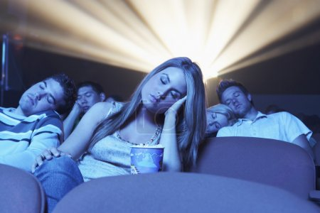 People sleeping in the theatre