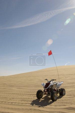 Quad bike in sand