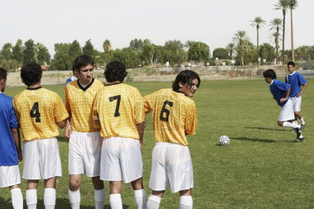 Players Preparing for a Penalty Kick
