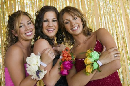 Girls Showing Prom Corsages