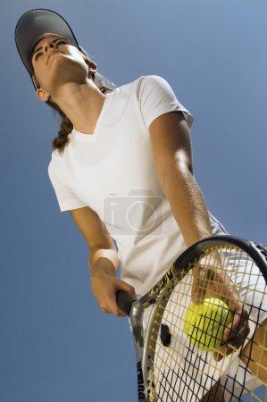 Tennis Player Preparing