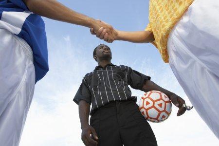 Handshake Before the Soccer Game