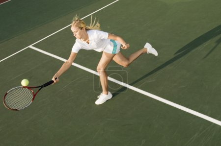 Tennis Player with Ball