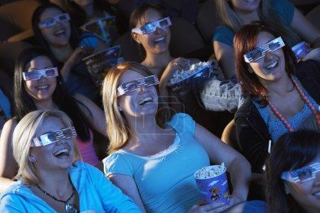 Women watching 3D movie