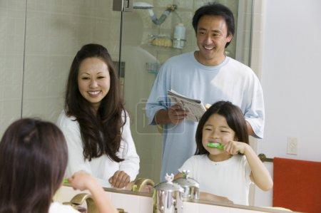Family in Bathroom