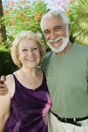Photo for Senior Couple outdoors portrait. - Royalty Free Image
