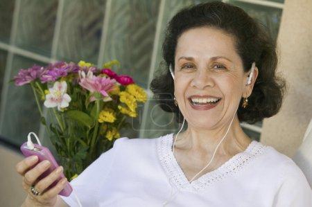 Woman Listening iPod