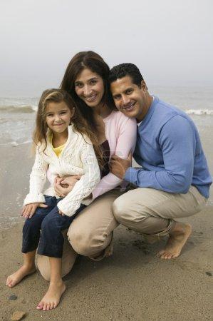 famille ensemble sur la plage