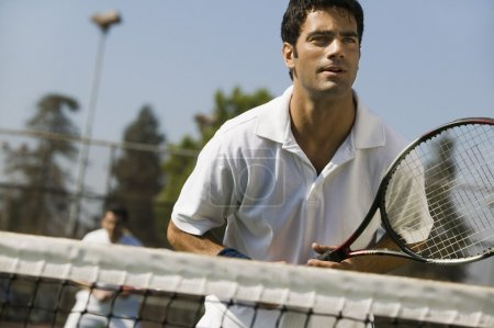 Male doubles tennis players