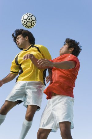 Soccer Players Colliding