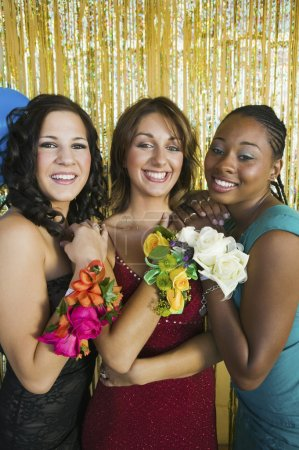 Teenagers at Dance Showing Corsages