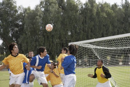 players playing soccer
