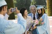 Foto de familia en la graduación