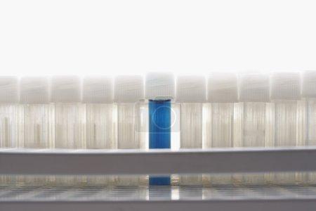 Blue test tube