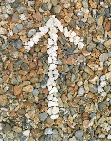 Photo pour Flèche de cailloux (gros plan) ) - image libre de droit