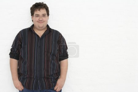 Overweight Mid-Adult Man