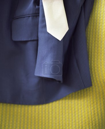 Photo for Suit and Tie on Bed - Royalty Free Image