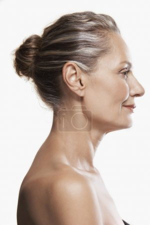 Photo for Middle-Aged Woman hair back - Royalty Free Image