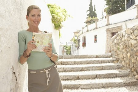 Woman with Guidebook