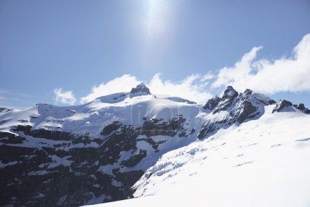 Snow-topped mountain peak