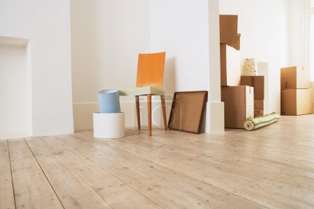 Furniture and Cardboard Boxes