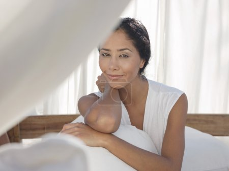 Mid-adult relaxed woman