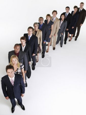Line of Businesspeople