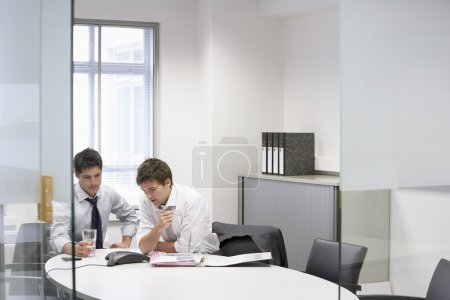 Businessmen having conference call