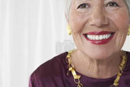 Senior woman smiling