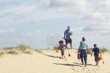 Vacationing Family on Beach