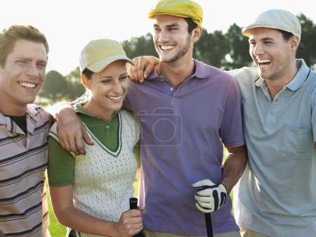 young golfers on golf course