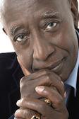 Senior african american businessman