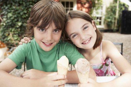 Kids Eating Ice Creams
