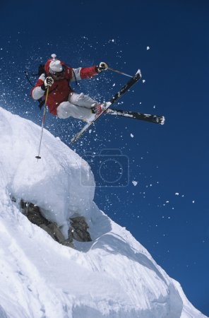 Skier  in snow