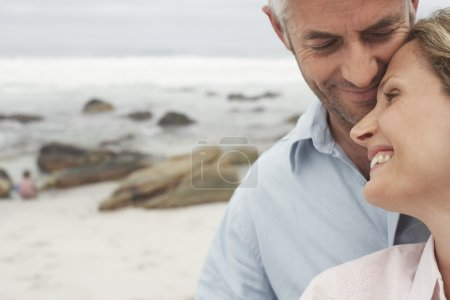 Photo for Happy Couple on Beach - Royalty Free Image