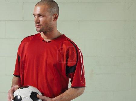 Intense Soccer Player