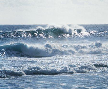 Waves Crashing near Shore