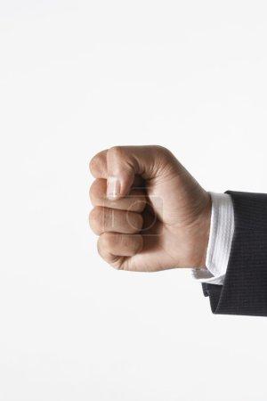 Man making fist