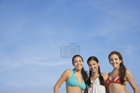 teenage girls  standing