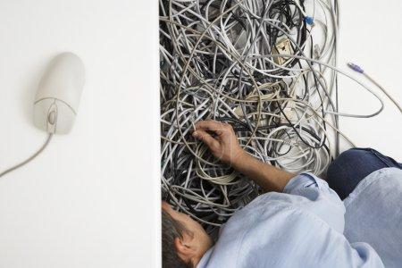 Man Working on Hardware