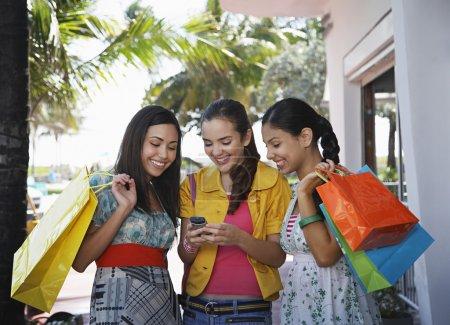 Teenage girls text messaging