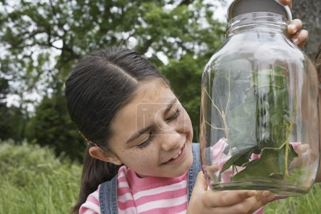 Girl Examining Mantis