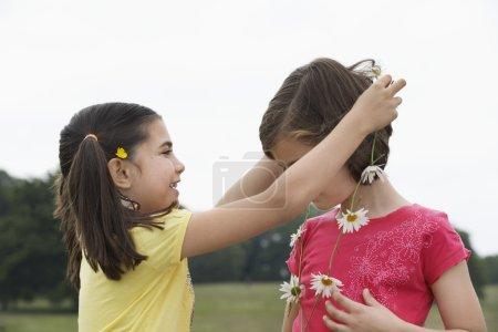 Girls with Flower Wreath