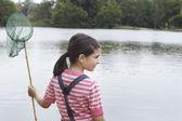 Girl with fishing net