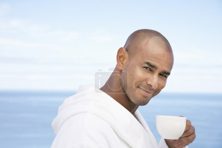Man  with cup of tea