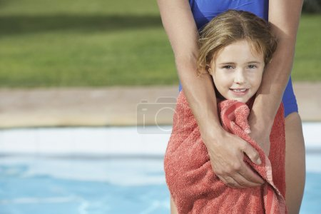 Girl  wrapped in towel