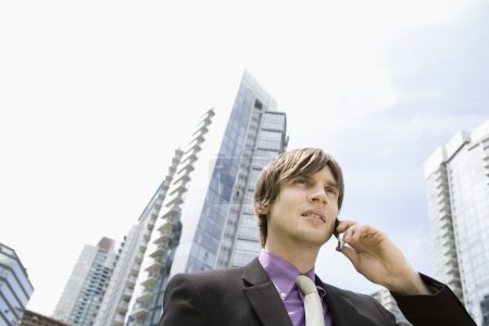 Business man using mobile phone