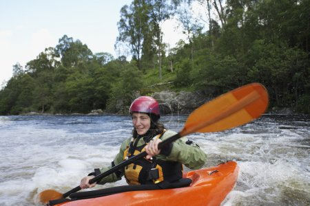 Kayaker in Rapids