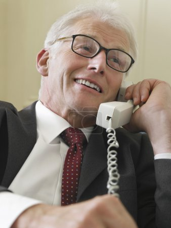 middle-aged Businessman Phoning